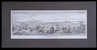 2287 Lithograph of San Francisco in 1851