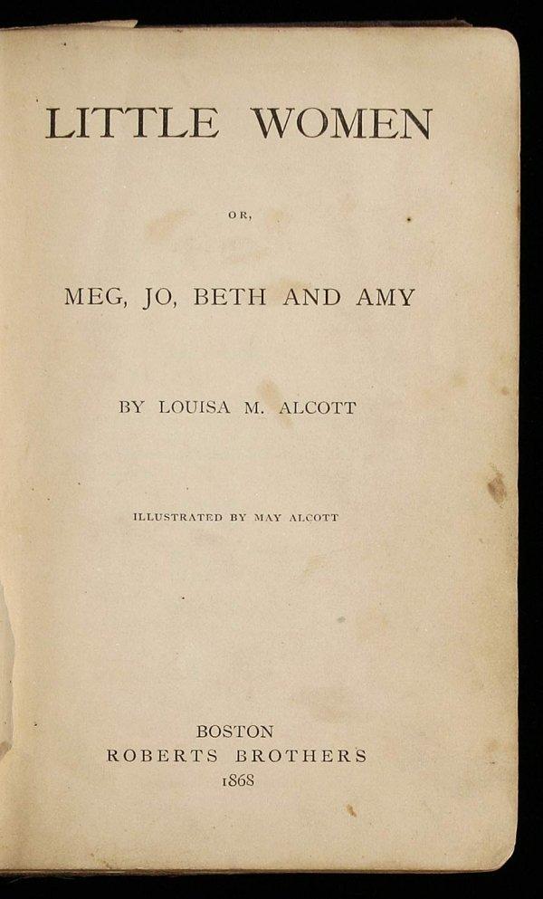 1st Edition of Little Women 1868