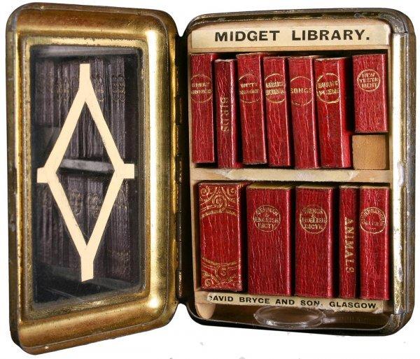 Bryce's Midget Library - 11 miniature books