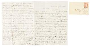1850s slave Christmas in Kentucky - letter by a