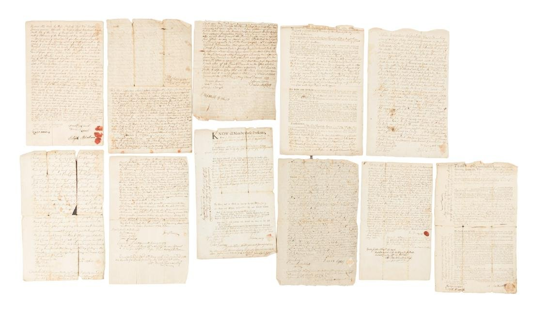 Colonial land deeds from Massachusetts/Maine