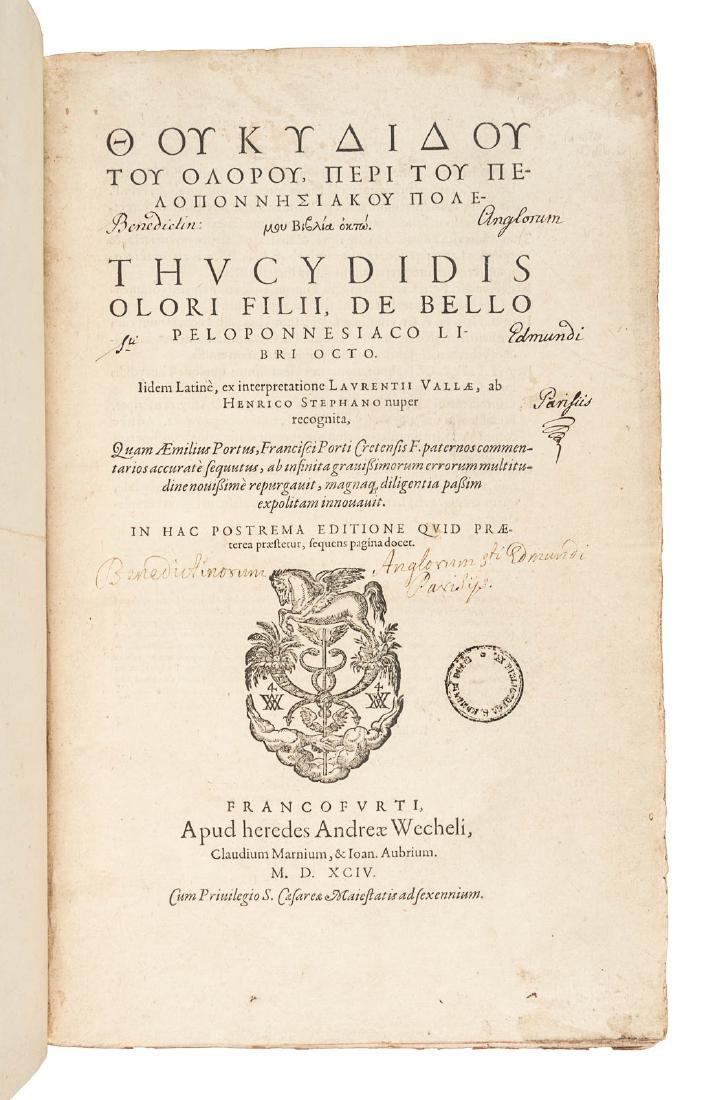 Thucydides' Greek for the literati, 1594 - 3