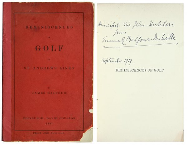 1008: Balfour Reminiscences of Golf St. Andrews Links