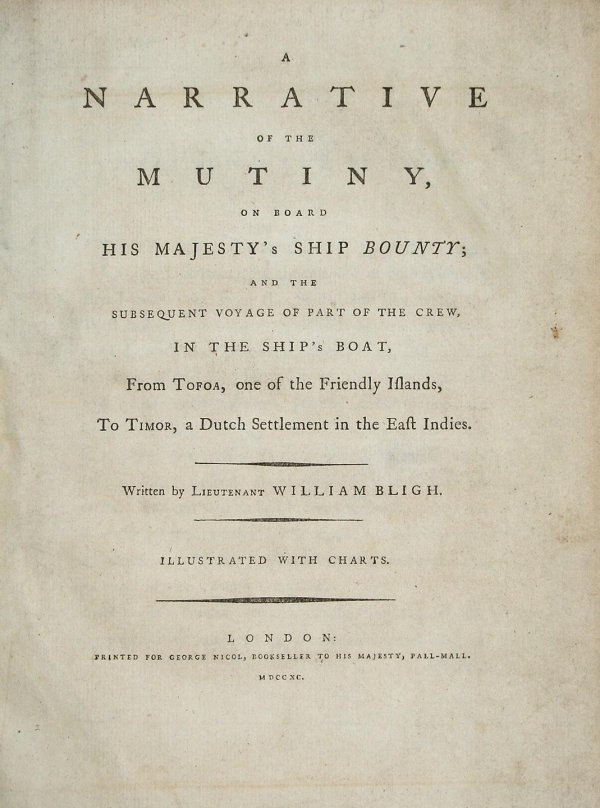 2023: Bligh's account of the Mutiny 1790