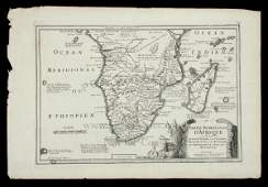 2345 De Fer map of southern Africa c1700
