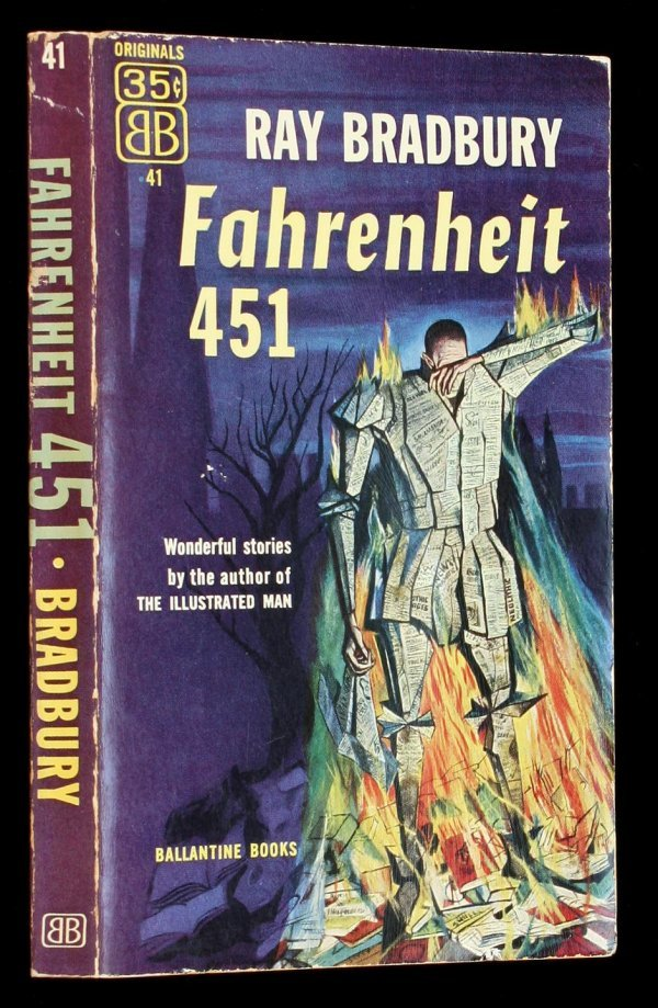 3: Ray Bradbury Fahrenheit 451 1st PBO 1953