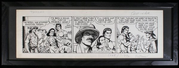 10: Original artwork for a Tarzan comicstrip