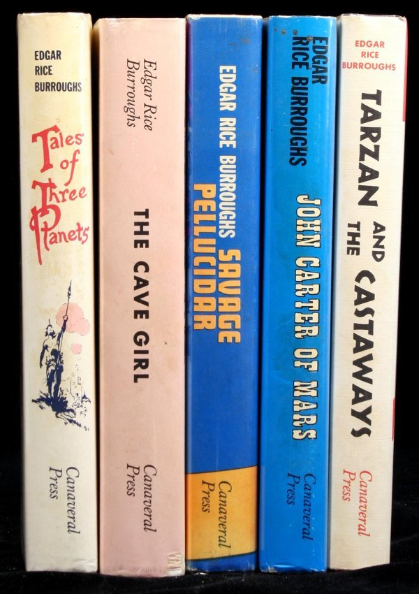 19: Lot of 5 titles by Edgar Rice Burroughs