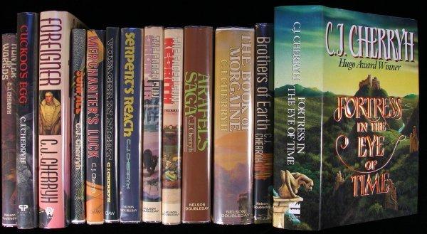 21: C.J. Cherryh group lot of sci-fi books