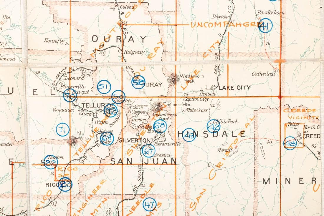 Maps of mines & mining districts in the west - 7