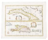 Map of Cuba, Hispaniola & Puerto Rico, 1747