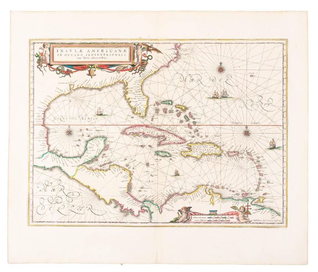 Jan Jansson map of the Caribbean, c.1640