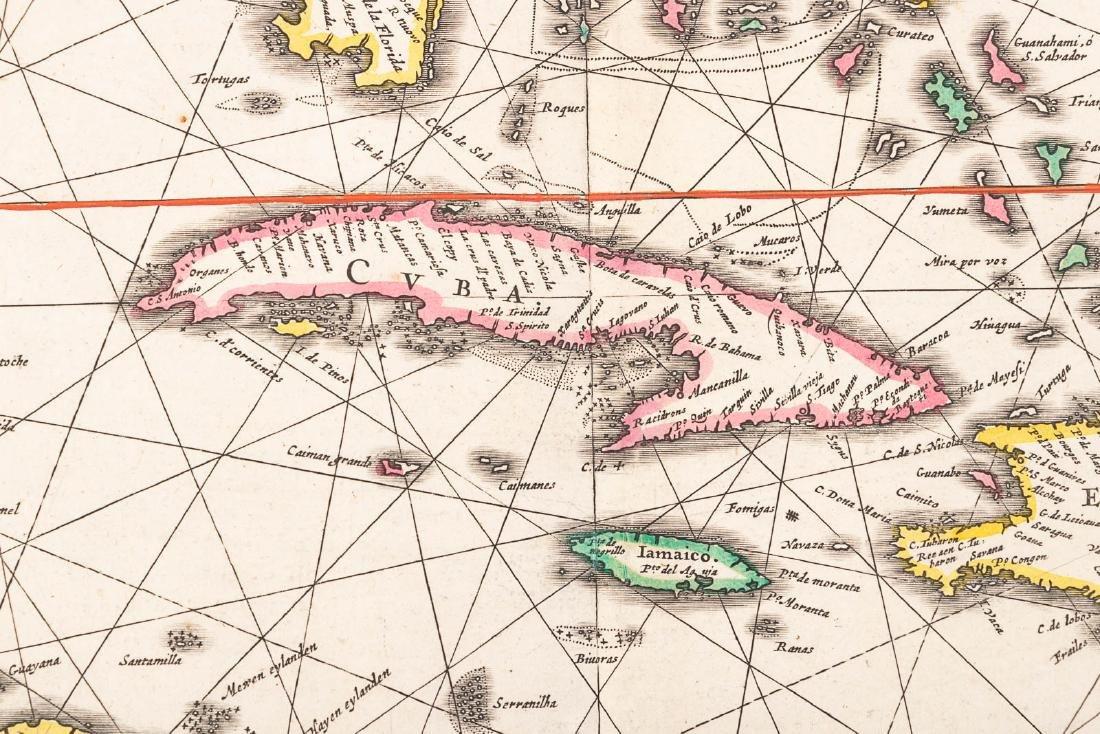 Jan Jansson map of the Caribbean, c.1640 - 2