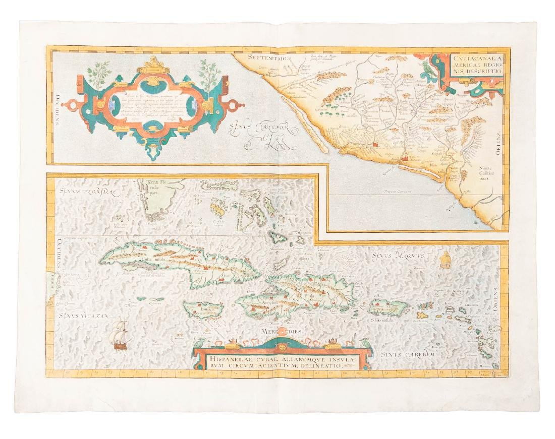 Early map of West Indies 1579
