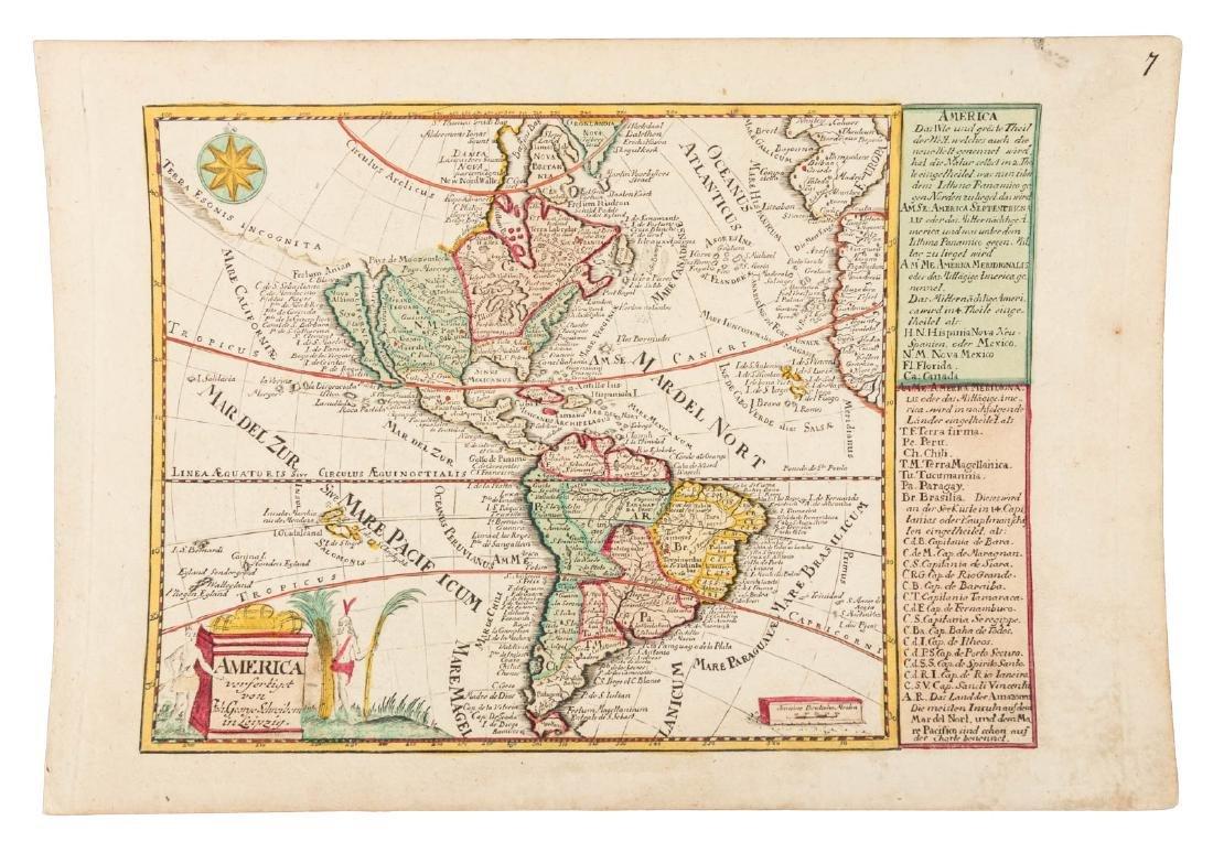 German map of America California an island