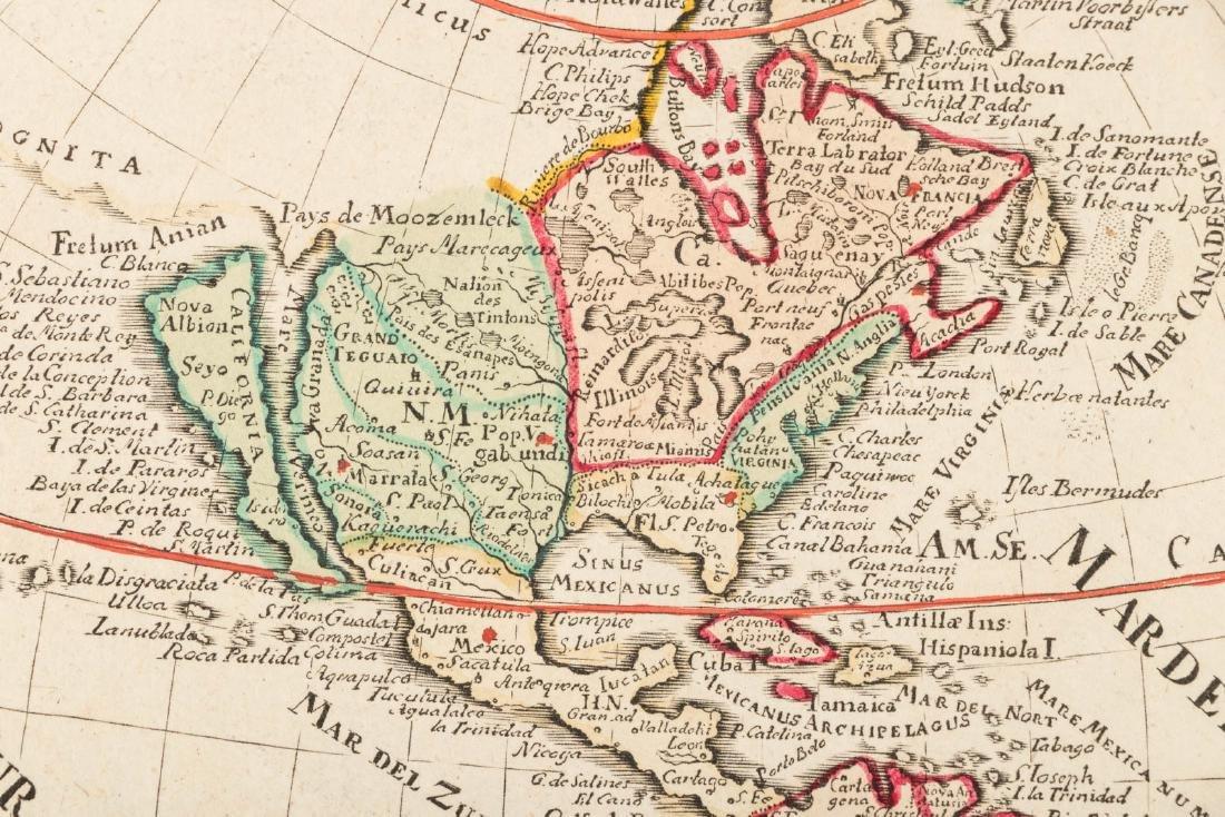 German map of America California an island - 4