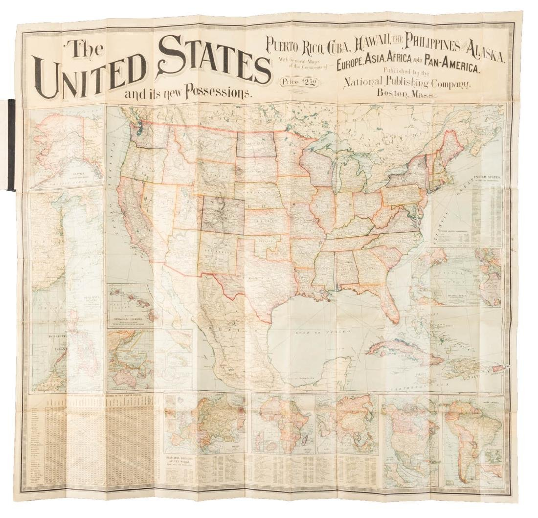 Map of U.S. and its New Possessions, 1899