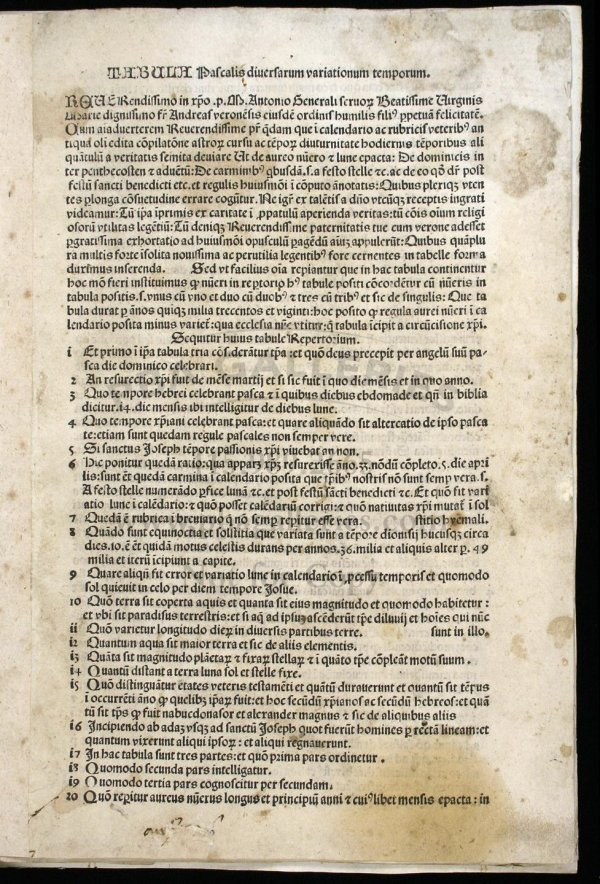 1006: Rare incunabular astronomy tables