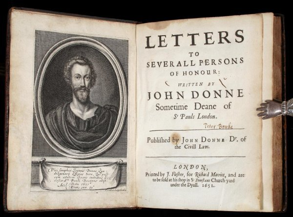 1030: John Donne's Letters First Edition 1651