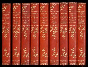 Works Of Lord Byron 17 Finely Bound Volumes
