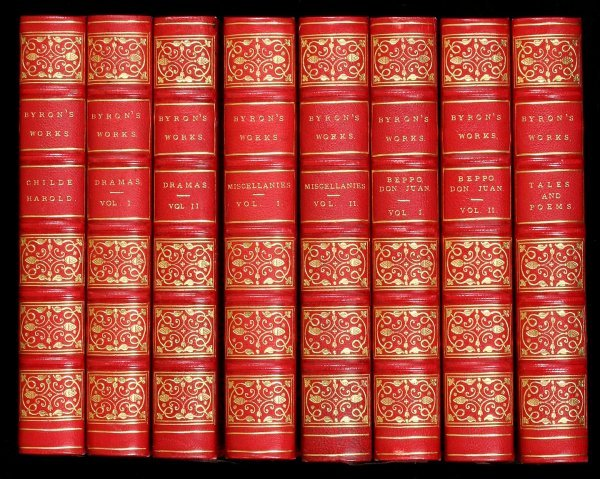 1035: Lord Byron's Works 8 Volumes 1853