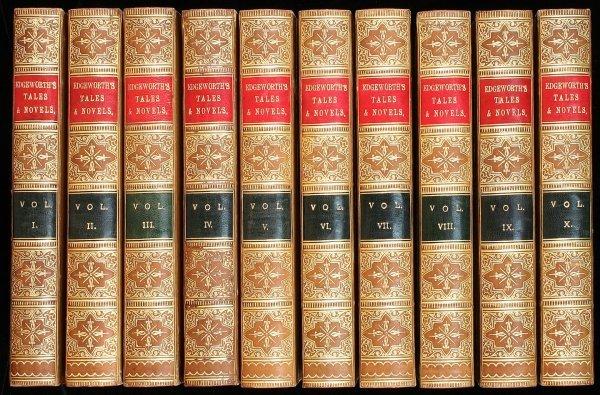 1039: Tales and Novels of Maria Edgeworth 10 Volumes