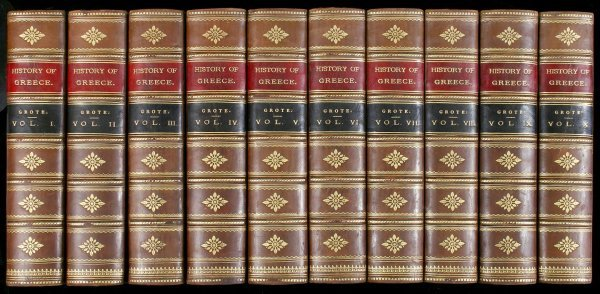 1044: Grote's History of Greece 10 volumes 1872