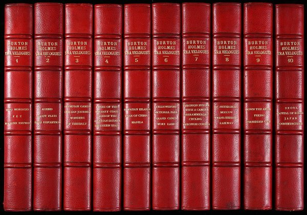 1046: Burton Holmes Travelogues Finely Bound