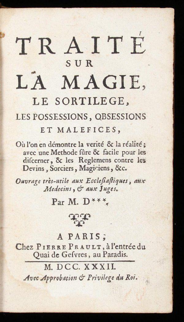 1077: Daugis on Magic and Sorcery, 1732