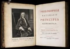 1086 Rare Large Paper Copy of Newtons Principia 1726