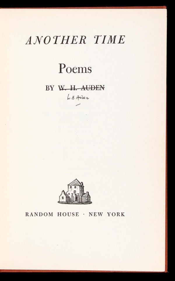 2002: W.H. Auden Another Time - signed w/ corrections
