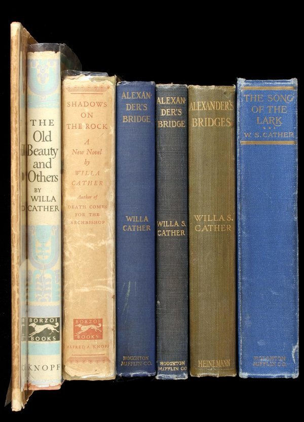 2020: Lot of 7 Willa Cather volumes books