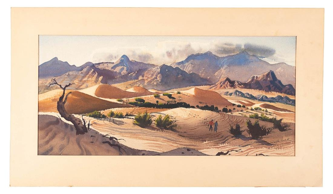 Watercolor by Ralph Hulett, 1949