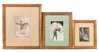 Three signed photographs of dancers