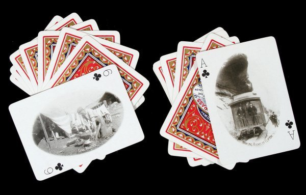 9: Playing cards with Alaska photos, 1900