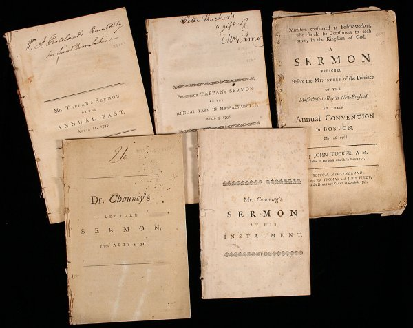 13: Group of five 18th century American Imprints