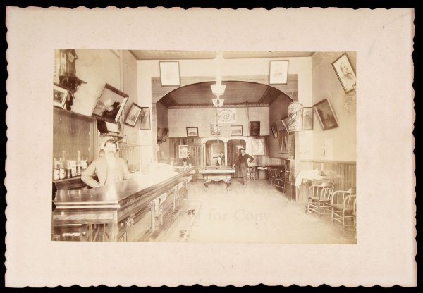 299: Photograph of Bar interior, c.1895