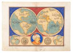 MS world map with Arabic script
