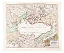 Seutter map centered on Black Sea c.1730