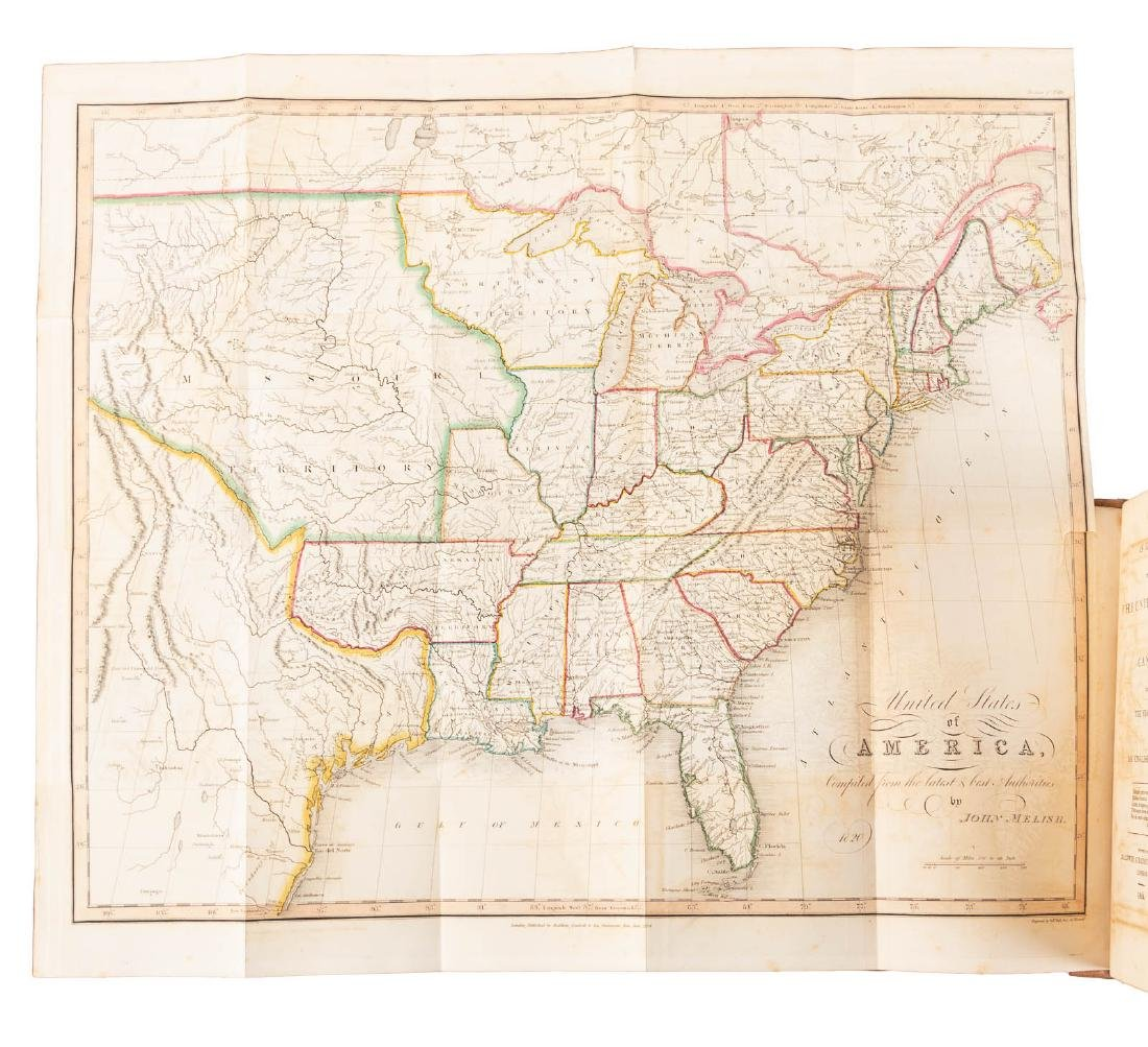 Travels through U.S. with Melish map - 5