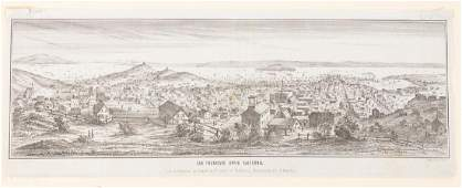 Lithograph of San Francisco in 1851