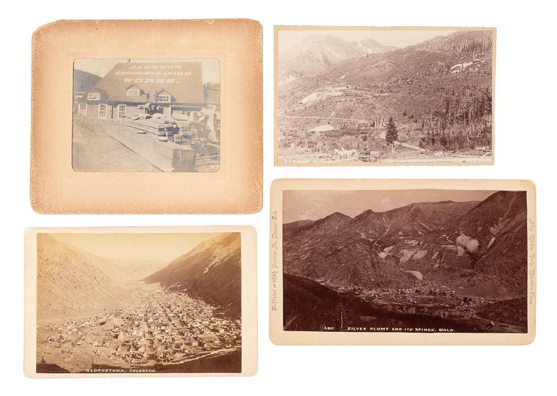 Four photos of Colorado mines & towns