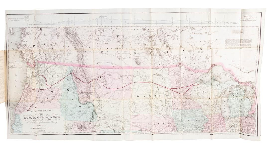 Memorial Northern Pacific Railroad with map