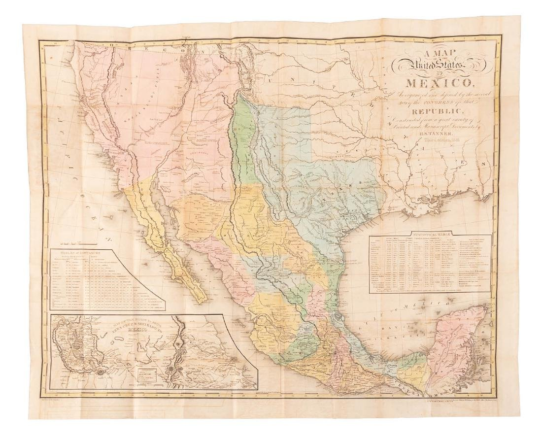 Tanner's map of Mexico 1846