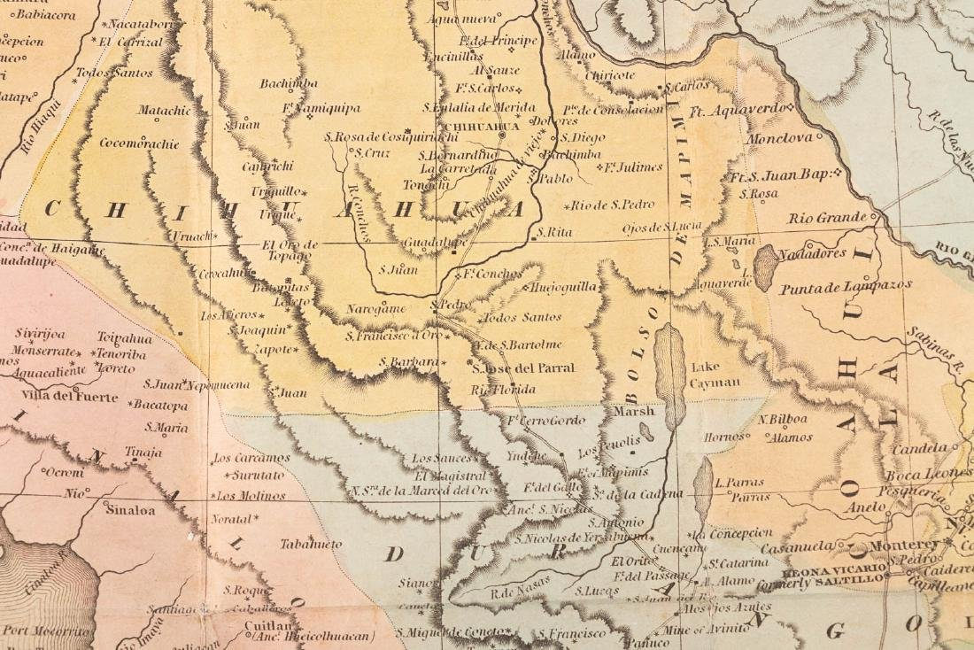 Tanner's map of Mexico 1846 - 5