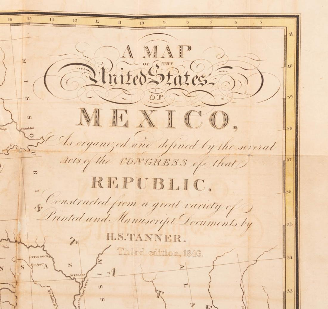 Tanner's map of Mexico 1846 - 7