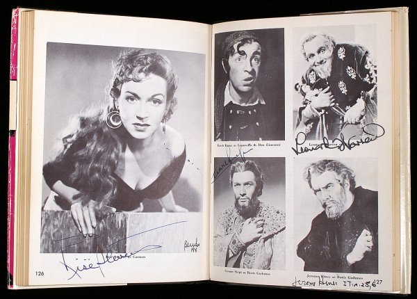 1285: Blum's Opera World Signed by Over 80 Stars