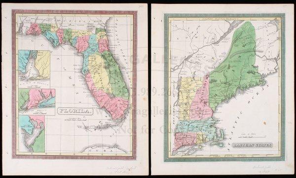 2001: Maps of Florida & Eastern U.S. c.1828