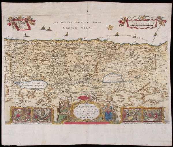 2002: Map of Holy Land c.1726