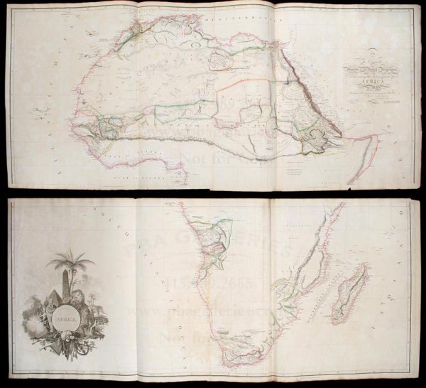 2004: Arrowsmith's very large map of Africa 1811